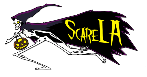 (ScareLA logo ©2016 by BoogerVampire, and used with permission.)