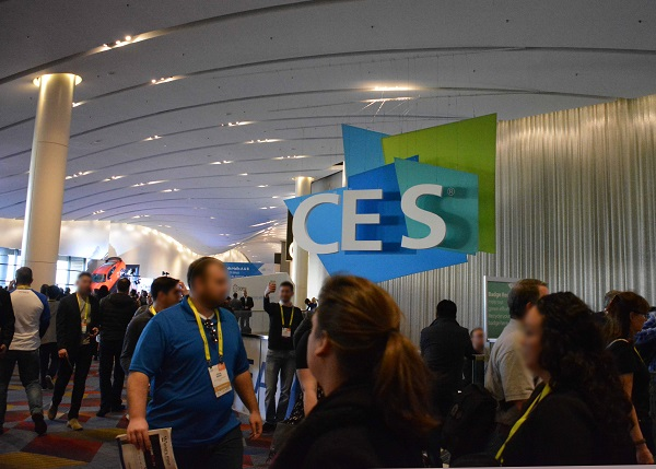 CES attendees outside CES exhibit area