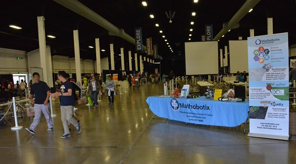 mathobotics display in main hall