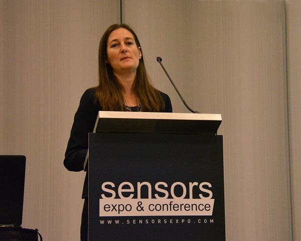 ARM's Charlene Marini at SENSORS podium