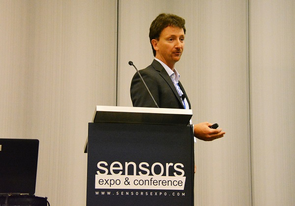 Edoardo Gallizio at Sensors lectern