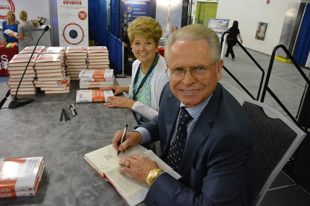 Author and entrepreneur Ray Zinn with his wife at Sensors 16 booksigning