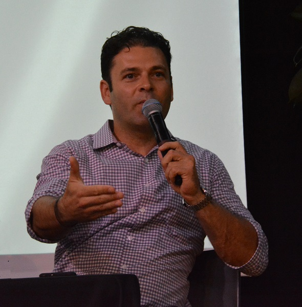 "Cross Campus co-founder Ronen Olshansky at ""Demo Day"""