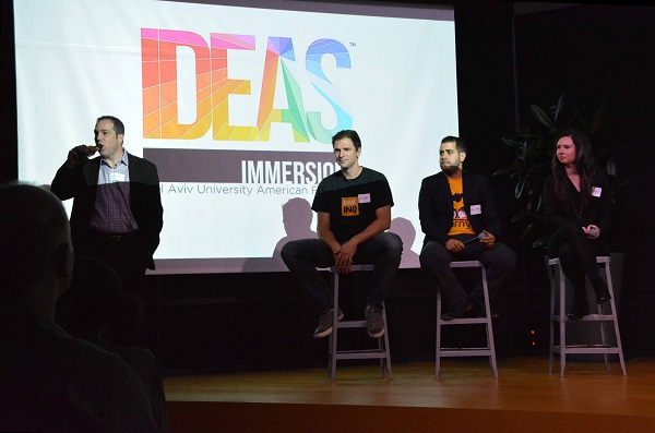 three IDEAS Immersion startup panelists
