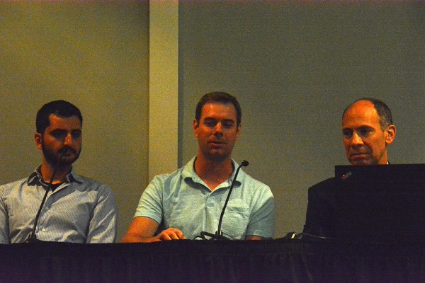 Fabien Chriam, Josh Hartug and Dave Tokic on Panel 2