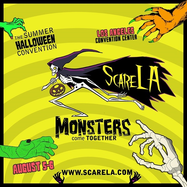 "ScareLA ""Monsters Come Together"" graphic"