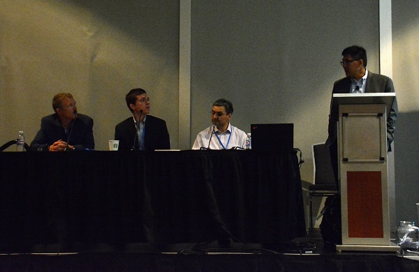 Will discusses sensors with Panel 3
