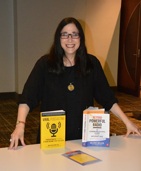 Valerie Geller at PM17 with her two most recent books