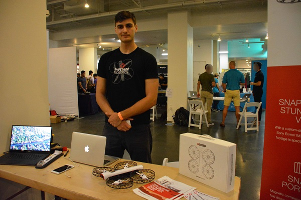 Engineer Pavlo Manovi of Vantage Robotics at TechDay L.A. 2017