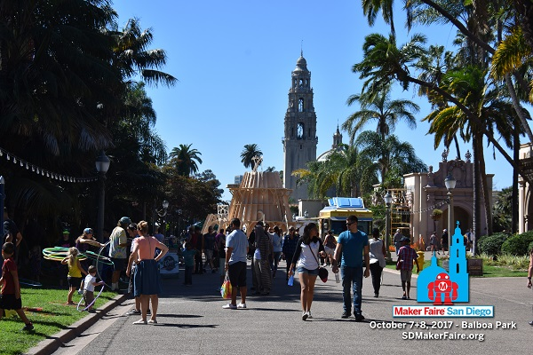 Crowds at Balboa Park for Maker Faire® San Diego