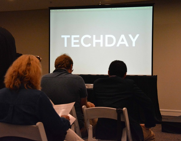 audience waits for Live Stage pitches at Tech Day L.A.