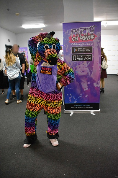 party animal dances at Tech Day L.A.