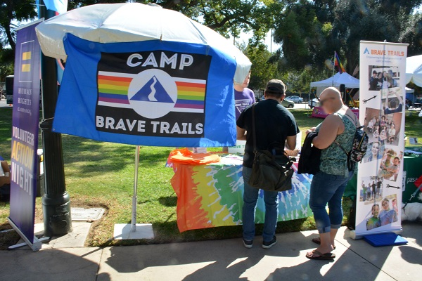 Camp Brave Trails exhibit with banner
