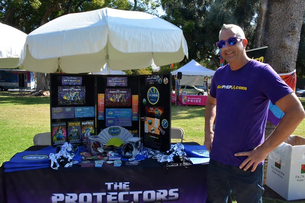 The Protectors booth with Chris Clarken