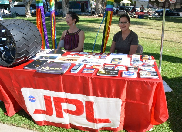 JPL table with staffers at SGV Pride XVI