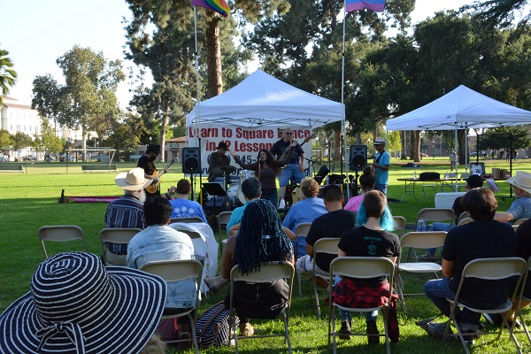 Sayed Sabrina sings for San Gabriel Valley Pride festival