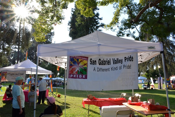 SGV Pride banner near display tables