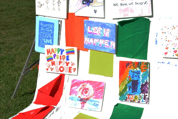 messages on Big Draw L.A. for San Gabriel Valley Pride