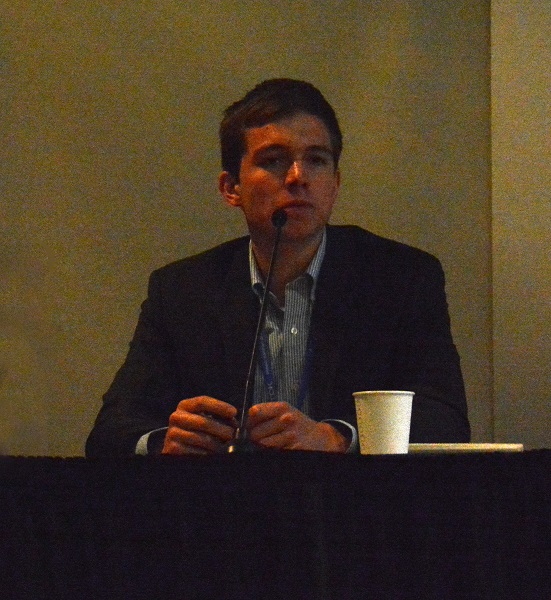 Rourke Pattullo during panel on autonomous vehicles