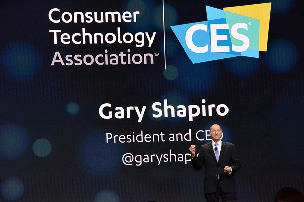 Gary Shapiro onstage at CES® 2018